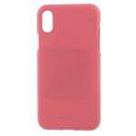 Чехол Mercury Goospery Soft Feeling для Apple iPhone XS max (розовый, силиконовый)