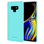 Чехол Mercury Goospery Soft Feeling для Samsung Galaxy Note 9 (бирюзовый, силиконовый)