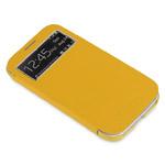 Чехол X-doria Dash Folio View для Samsung Galaxy S4 i9500 (желтый, кожанный)