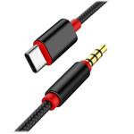 AUX-кабель Synapse Armed Cable (1 м, miniJack 3.5 мм, USB Type C, черный)