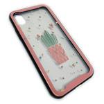 Чехол Synapse Glassy Case для Apple iPhone X (Cactus, гелевый/стеклянный)