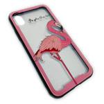 Чехол Synapse Glassy Case для Apple iPhone X (Flamingo, гелевый/стеклянный)