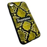 Чехол Synapse Glassy Case для Apple iPhone XR (Supreme Snake, гелевый/стеклянный)
