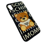 Чехол Synapse Glassy Case для Apple iPhone XS max (Moschino Bear, гелевый/стеклянный)