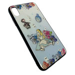 Чехол Synapse Glassy Case для Apple iPhone XS max (Alice and Cat, гелевый/стеклянный)