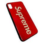 Чехол Synapse Glassy Case для Apple iPhone XS max (Supreme Red, гелевый/стеклянный)