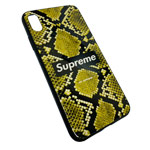 Чехол Synapse Glassy Case для Apple iPhone XS max (Supreme Snake, гелевый/стеклянный)