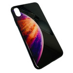 Чехол Synapse Glassy Case для Apple iPhone XS max (Bubble Three, гелевый/стеклянный)
