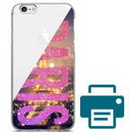 Печать на чехле для Apple iPhone 6S plus (прозрачный, гелевый)