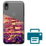 Печать на чехле для Apple iPhone XR (прозрачный, гелевый)