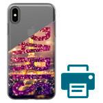 Печать на чехле для Apple iPhone XS (прозрачный, гелевый)