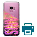 Печать на чехле для Samsung Galaxy S9 (прозрачный, гелевый)