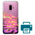 Печать на чехле для Samsung Galaxy S9 plus (прозрачный, гелевый)