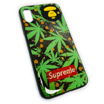 Чехол Yotrix GlitterFoil Case для Apple iPhone XS (Supreme Leafs, гелевый)