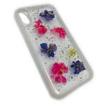 Чехол Yotrix FlowersFoil Case для Apple iPhone XR (Purple and Pink, гелевый)