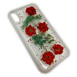 Чехол Yotrix FlowersFoil Case для Apple iPhone XR (Red, гелевый)