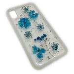 Чехол Yotrix FlowersFoil Case для Apple iPhone XR (Blue, гелевый)
