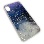 Чехол Yotrix GlitterFoil Case для Apple iPhone XS max (Galaxy One, гелевый)