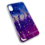Чехол Yotrix GlitterFoil Case для Apple iPhone XS max (Galaxy Five, гелевый)