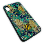 Чехол Yotrix GlitterFoil Case для Apple iPhone XS max (Cheetah in Leafs, гелевый)