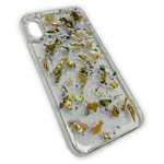 Чехол Yotrix GlitterFoil Case для Apple iPhone XS max (Patches Gold, гелевый)