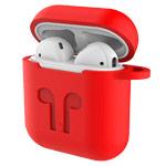 Чехол Yotrix AirPods Kit для Apple AirPods (красный, силиконовый, набор)