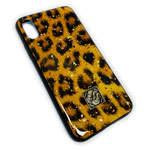 Чехол Yotrix GlitterFoil Case для Apple iPhone XS (Leopard, гелевый)