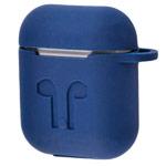 Чехол Yotrix AirPods Kit для Apple AirPods (темно-синий, силиконовый, набор)