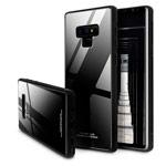 Чехол Yotrix GlassCase для Samsung Galaxy Note 9 (черный, гелевый/стеклянный)
