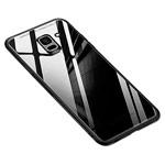 Чехол Yotrix GlassCase для Samsung Galaxy J6 (черный, гелевый/стеклянный)