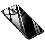 Чехол Yotrix GlassCase для Samsung Galaxy A6 plus 2018 (черный, гелевый/стеклянный)
