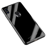 Чехол Yotrix GlassCase для Xiaomi Mi 8 SE (черный, гелевый/стеклянный)