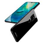 Чехол Yotrix GlassCase для Huawei Mate 20 (черный, гелевый/стеклянный)