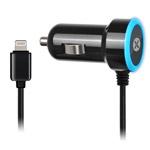Зарядное устройство Dexim Mini Car charger 2.4A для Apple iPhone/iPad/iPod (автомобильное, черное, Lightning, MFi)
