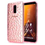 Чехол Yotrix DiamondCase для Samsung Galaxy A6 plus 2018 (розовый, гелевый)