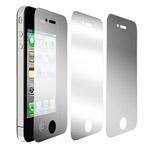 Защитная пленка Dexim 3-pack для Apple iPhone 4/4S (набор, матовая/тонированная/зеркальная)