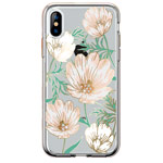 Чехол Comma Crystal Flowers для Apple iPhone XS (Magnolia White, гелевый)