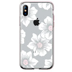 Чехол Comma Crystal Flowers для Apple iPhone XS max (Peony Brown, гелевый)