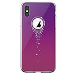Чехол Comma Crystal Angel Tears для Apple iPhone XS (фиолетовый, гелевый)