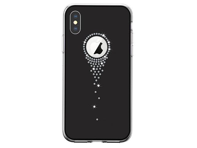 Чехол Comma Crystal Angel Tears для Apple iPhone XS (черный, гелевый)