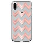 Чехол Devia Bowen для Apple iPhone XS max (розово-золотистый, гелевый)