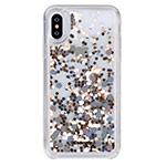 Чехол Comma Pattern case для Apple iPhone XS (золотистый, гелевый)