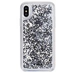 Чехол Comma Pattern case для Apple iPhone XS (серебристый, гелевый)