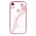 Чехол Devia Crystal Papillon для Apple iPhone XR (розово-золотистый, пластиковый)