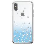 Чехол Devia Crystal Polka для Apple iPhone XS (голубой, пластиковый)