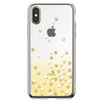Чехол Devia Crystal Polka для Apple iPhone XS (желтый, пластиковый)