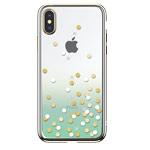 Чехол Devia Crystal Polka для Apple iPhone XS (зеленый, пластиковый)