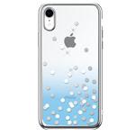 Чехол Devia Crystal Polka для Apple iPhone XR (голубой, пластиковый)