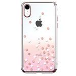 Чехол Devia Crystal Polka для Apple iPhone XR (розовый, пластиковый)