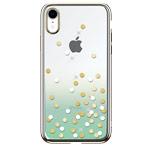 Чехол Devia Crystal Polka для Apple iPhone XR (зеленый, пластиковый)